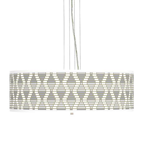"""Stepping Out Giclee 24"""" Wide 4-Light Pendant Chandelier"""