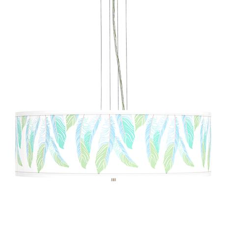 """Light as a Feather Giclee 24""""W4-Light Pendant Chandelier"""