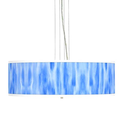 "Blue Tide Giclee 24"" Wide 4-Light Pendant Chandelier"
