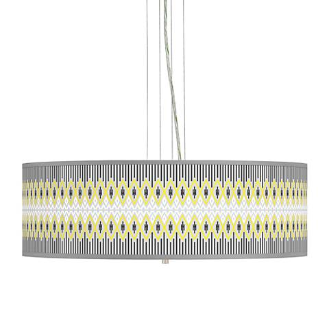 "Desert Geometric Giclee 24"" Wide 4-Light Pendant Chandelier"