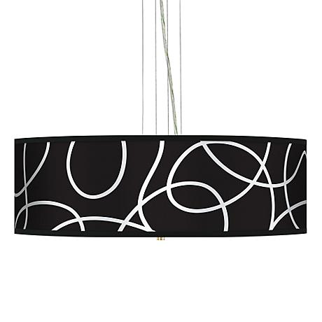 """Abstract 24"""" Wide 4-Light Pendant Chandelier"""