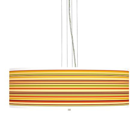 "Stacy Garcia Harvest Stripe 24"" Wide 4-Light Pendant Light"