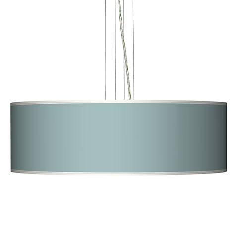 "Festoon Aqua 24"" Wide Four Light Pendant Chandelier"