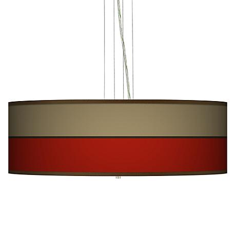 """Empire Red Giclee 24"""" Wide 4-Light Pendant Chandelier"""