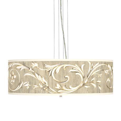 "Brushed Nickel Laurel Court 24"" 4-Light Pendant Chandelier"