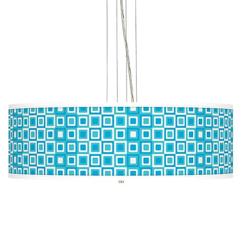 Blue Boxes Giclee Pendant Chandelier