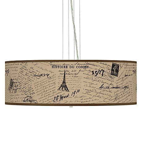 Letters To Paris Giclee Pendant Chandelier