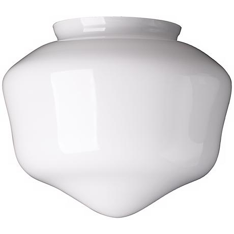 "4"" Fitter Large Schoolhouse Glass Shade"