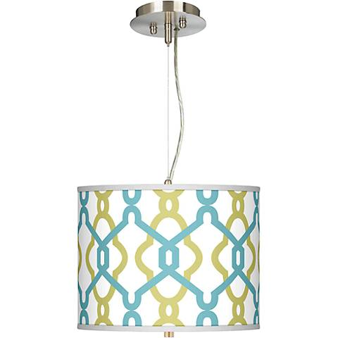 "Hyper Links Giclee 13 1/2"" Wide Pendant Chandelier"