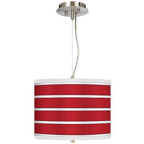 "Bold Red Stripes 13 1/2"" Wide 2-Light Pendant Chandelier"