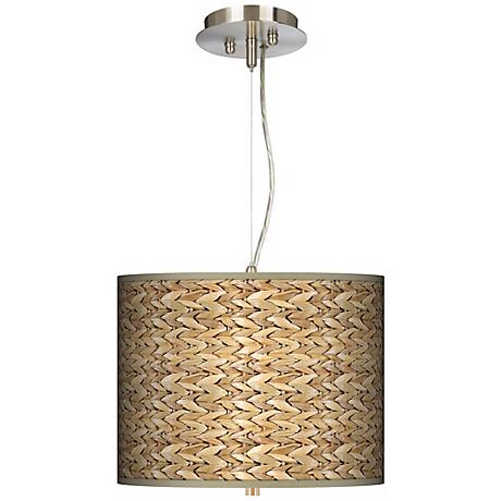 """Seagrass Giclee 13 1/2"""" Wide Pendant Chandelier"""