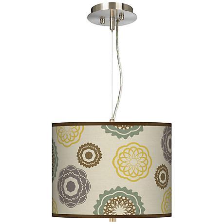 "Ornaments Linen 13 1/2"" Wide 2-Light Pendant Chandelier"