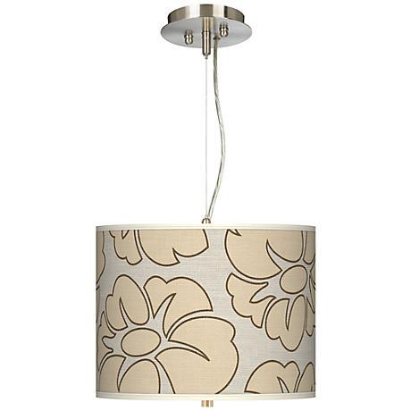 "Floral Silhouette 13 1/2"" Wide 2-Light Pendant Chandelier"