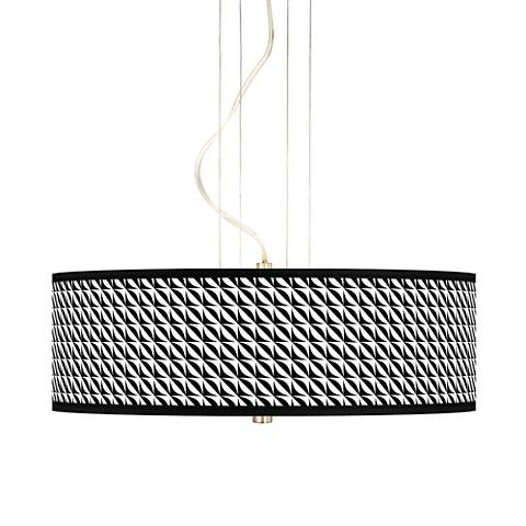 "Waves 20"" Wide 3-Light Pendant Chandelier"