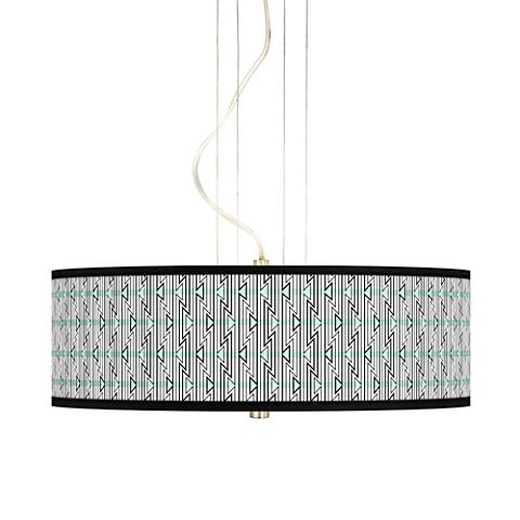"Indigenous 20"" Wide 3-Light Pendant Chandelier"