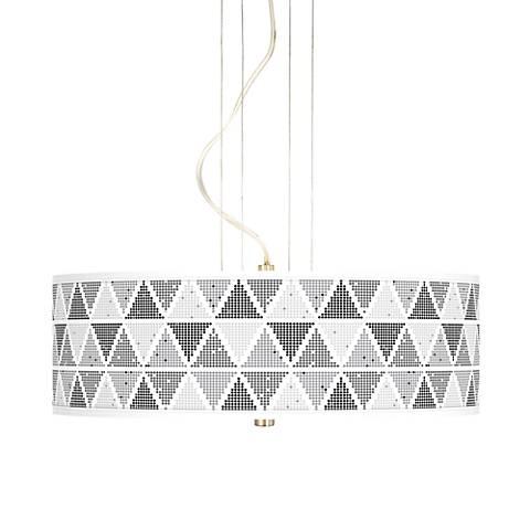 "Pointillism 20"" Wide 3-Light Pendant Chandelier"
