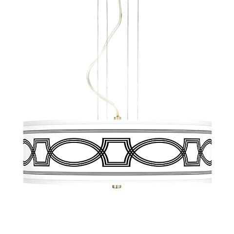 """Concave 20"""" Wide 3-Light Pendant Chandelier"""