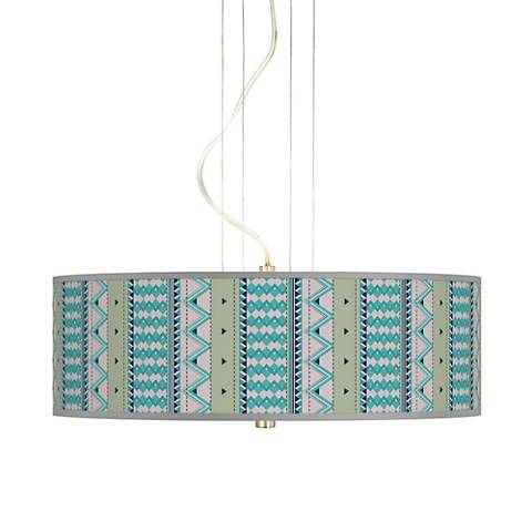 "Geo Metrix 20"" Wide 3-Light Pendant Chandelier"