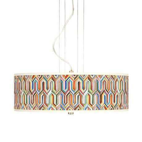 """Synthesis 20"""" Wide 3-Light Pendant Chandelier"""