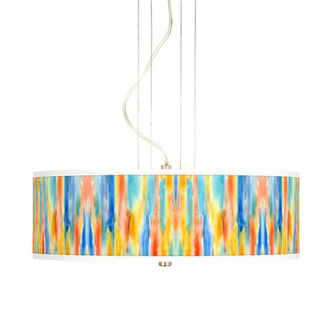"Tricolor Wash 20"" Wide 3-Light Pendant Chandelier"