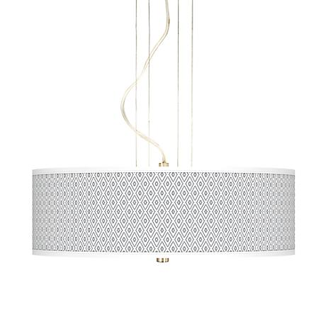 "Diamonds 20"" Wide 3-Light Pendant Chandelier"