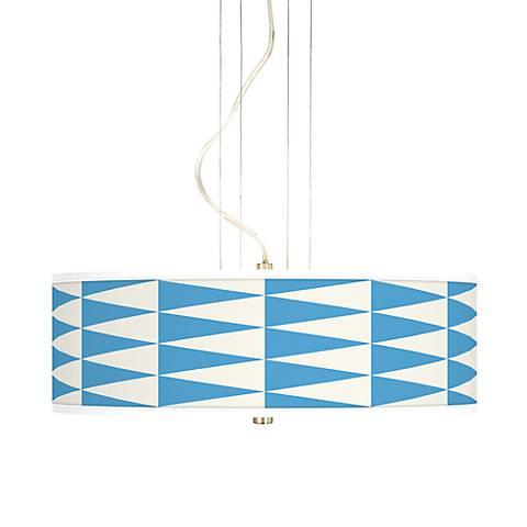 "Coastal Pennant 20"" Wide 3-Light Pendant Chandelier"