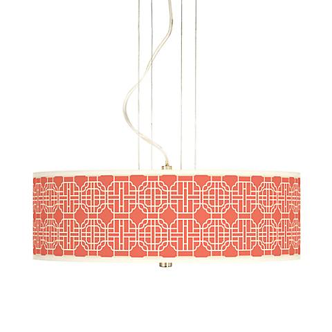 "Mandarin 20"" Wide 3-Light Pendant Chandelier"