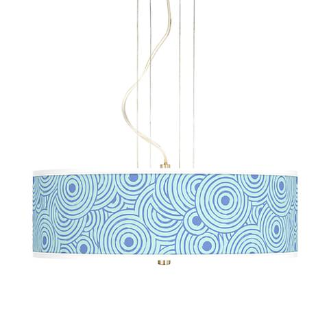 "Circle Daze 20"" Wide 3-Light Pendant Chandelier"