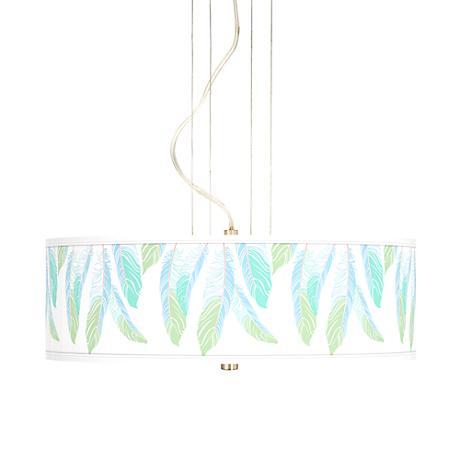 "Light as a Feather 20"" Wide 3-Light Pendant Chandelier"