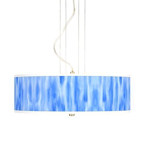 """Blue Tide 20"""" Wide 3-Light Pendant Chandelier"""