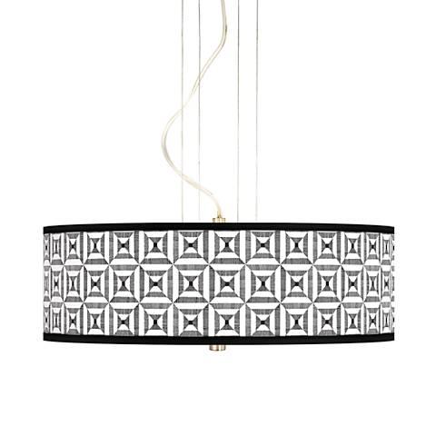 """Tile Illusion 20"""" Wide 3-Light Pendant Chandelier"""