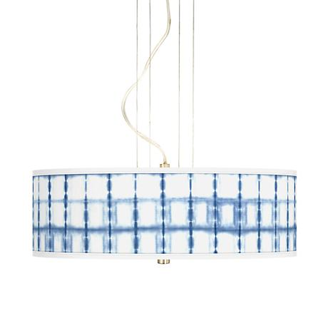 "Blue Mist 20"" Wide 3-Light Pendant Chandelier"