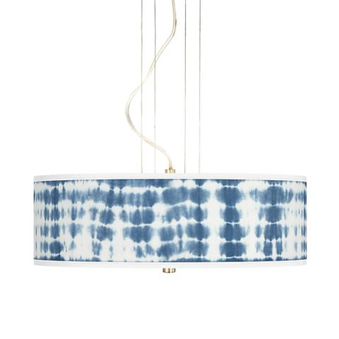 "Shibori Surf 20"" Wide 3-Light Pendant Chandelier"