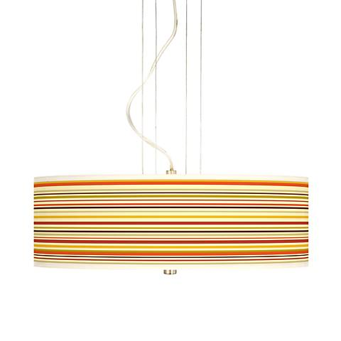 "Stacy Garcia Lemongrass Stripe 20"" Wide Giclee Pendant"