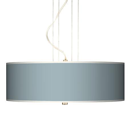 "Aqua Sphere 20"" Wide Three Light Pendant Chandelier"