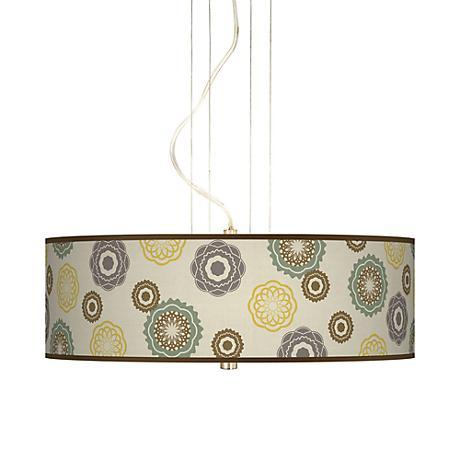 "Ornaments Linen 20"" Wide 3-Light Pendant Chandelier"