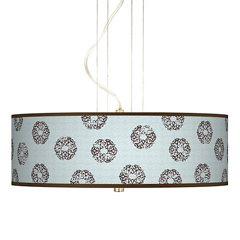 """Weathered Medallion Giclee  20"""" Wide Pendant Chandelier"""