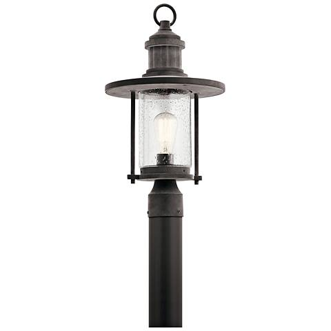 "Kichler Riverwood 19 3/4""H Weathered Zinc Outdoor Post Light"