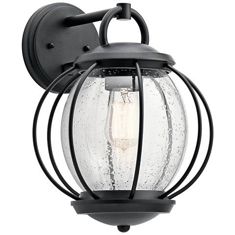 "Kichler Vandalia 14 1/2""H Textured Black Outdoor Wall Light"
