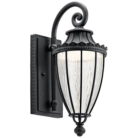 "Kichler Wakefield 17 3/4"" High Black LED Outdoor Wall Light"