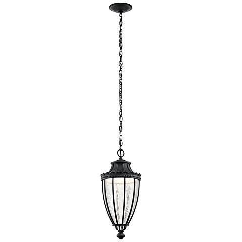 "Kichler Wakefield 23 1/4""H Black LED Outdoor Hanging Light"