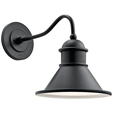 "Kichler Northland 16 3/4"" High Black Outdoor Wall Light"