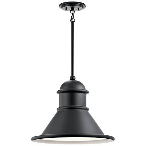 "Kichler Northland 14 1/4""H Black Outdoor Hanging Light"