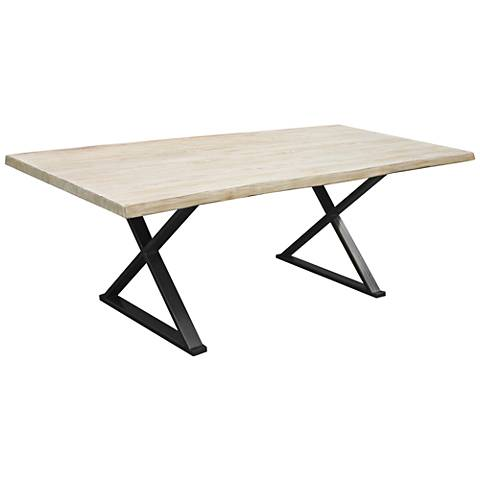 Brooklyn Small White Live Edge Dining Table