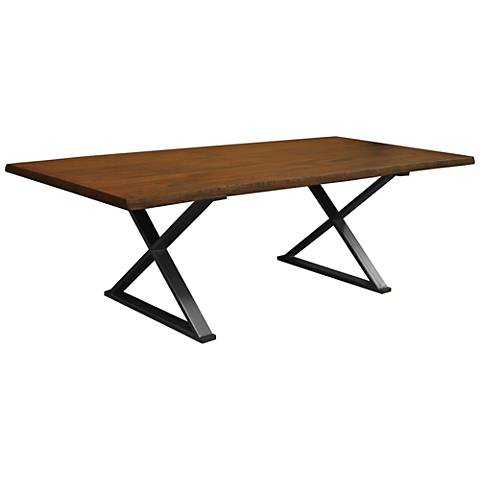Brooklyn Large Cognac Live Edge Dining Table