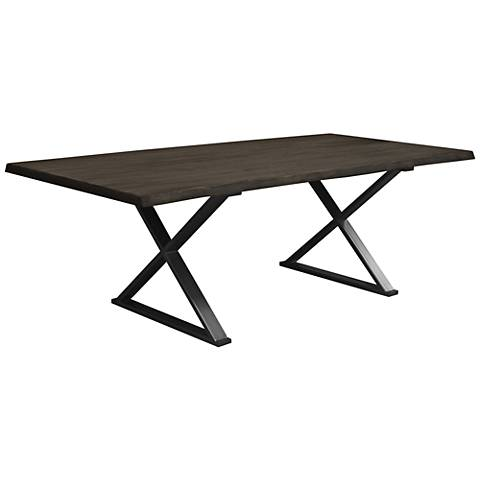 Brooklyn Large Gray Live Edge Dining Table