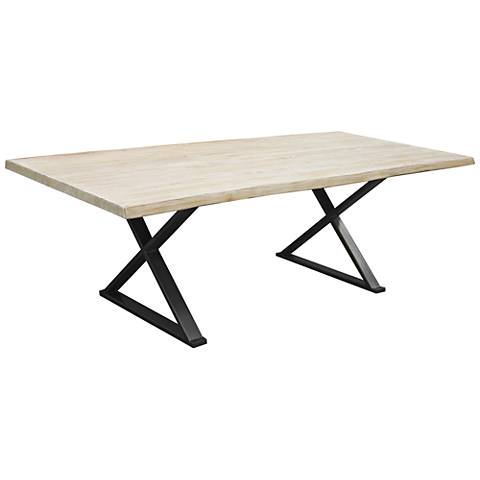 Brooklyn Large White Live Edge Dining Table
