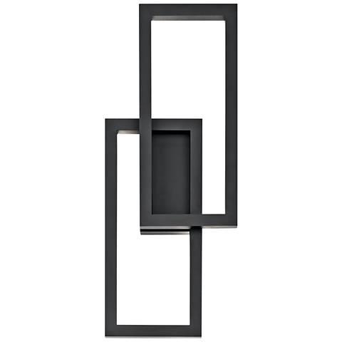 "Kichler Rettangolo 24"" High Black LED Outdoor Wall Light"
