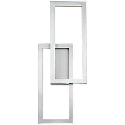 "Kichler Rettangolo 24"" High Platinum LED Outdoor Wall Light"
