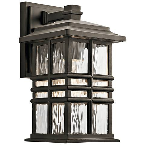 """Kichler Beacon Square 12""""H Olde Bronze Outdoor Wall Light"""